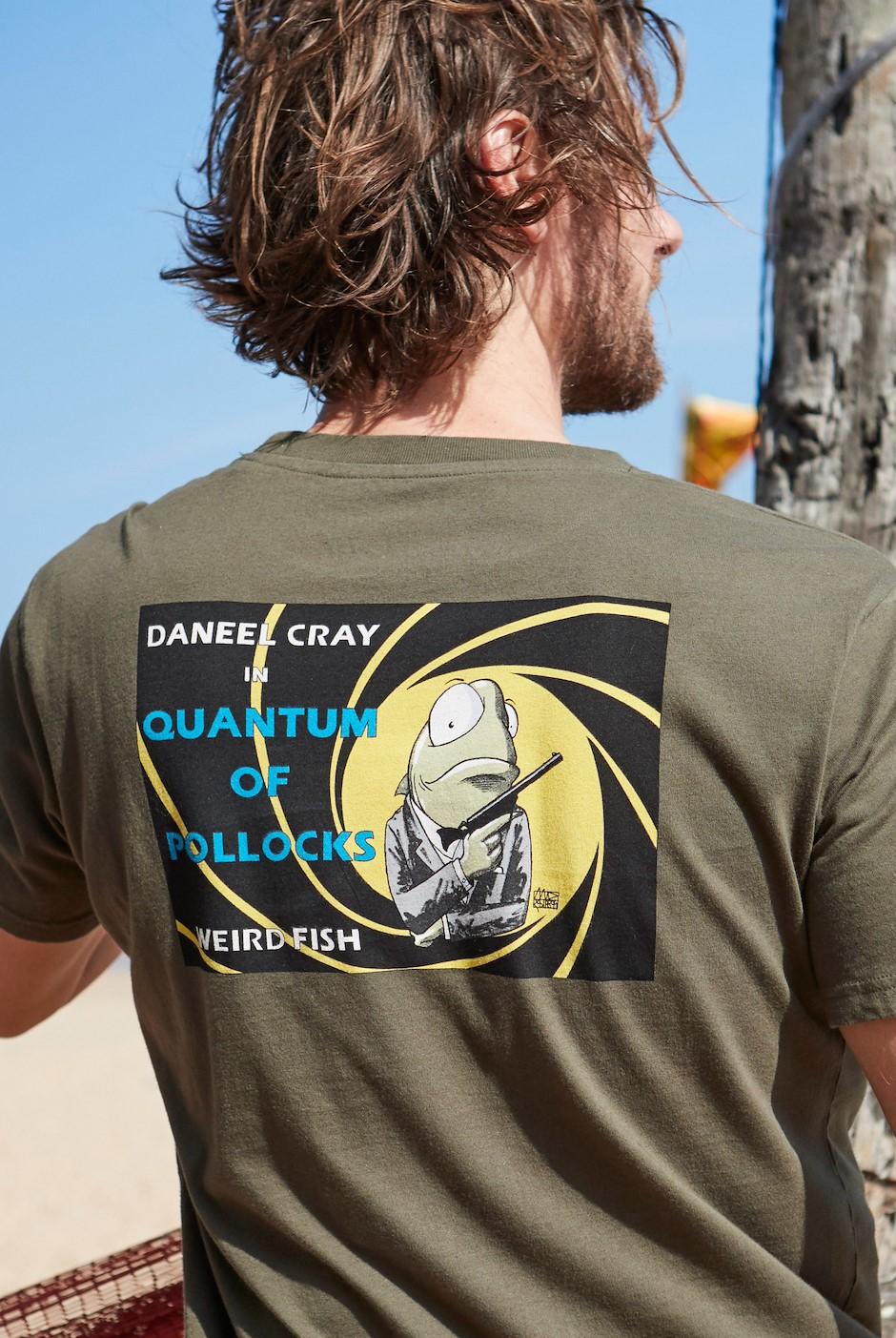 Quantum Pollocks Artist T-Shirt Dark Olive