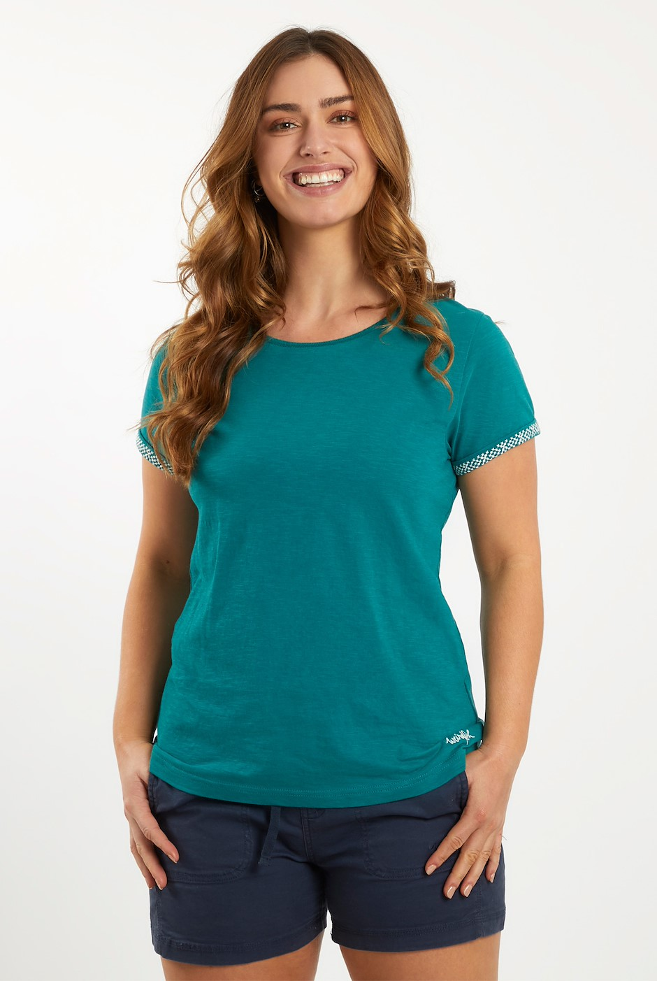 Trinity Cotton Short Sleeve T-Shirt Deep Teal
