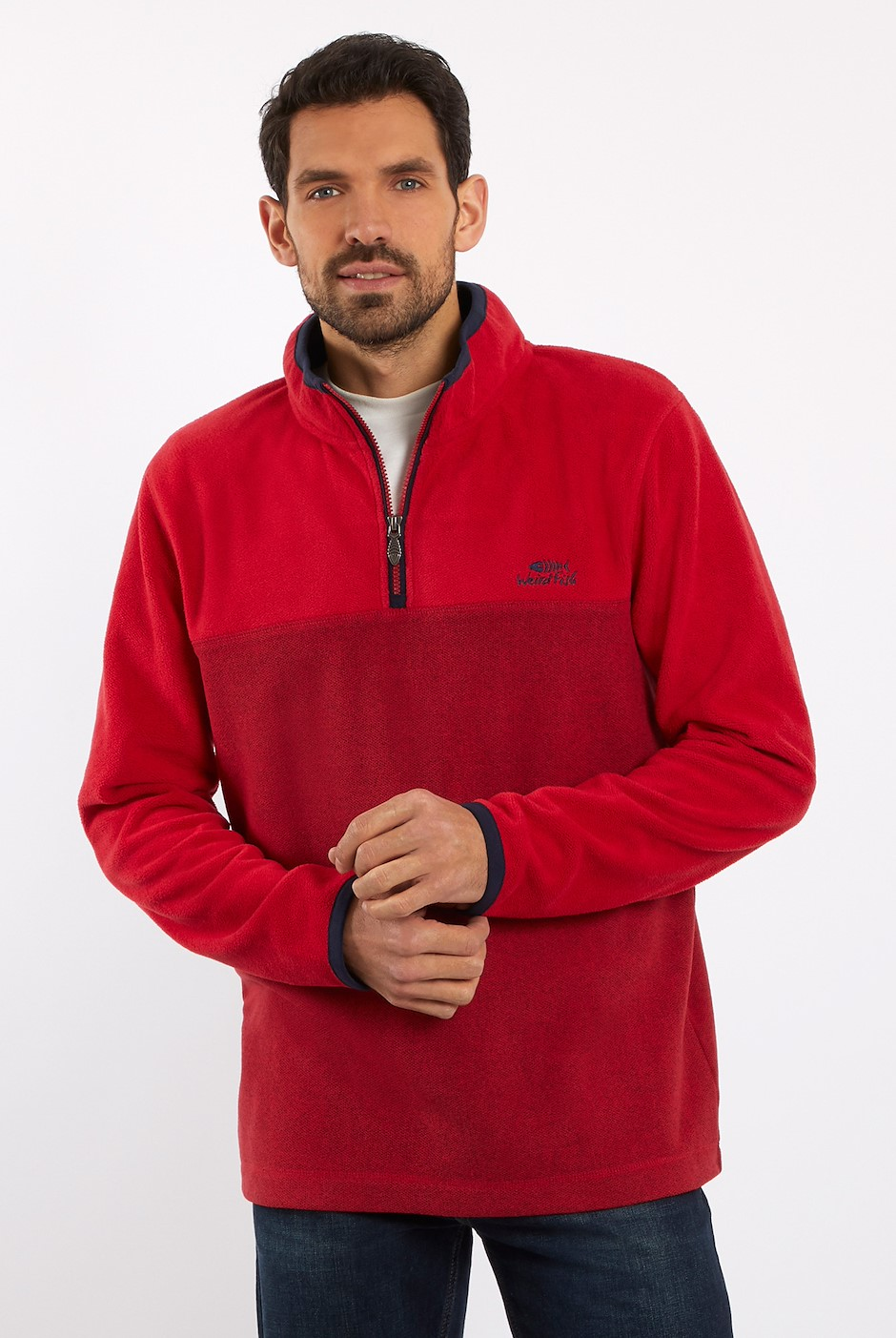 Rothay 1/4 Zip Fleece Sweatshirt Chilli Pepper