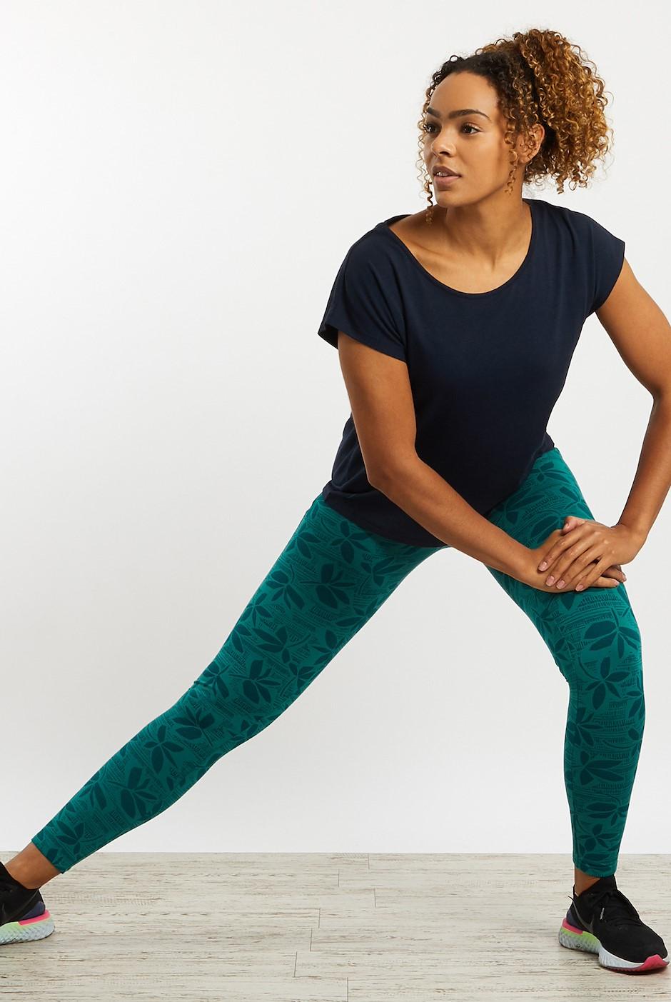 Tamra Bamboo Yoga Leggings Deep Teal