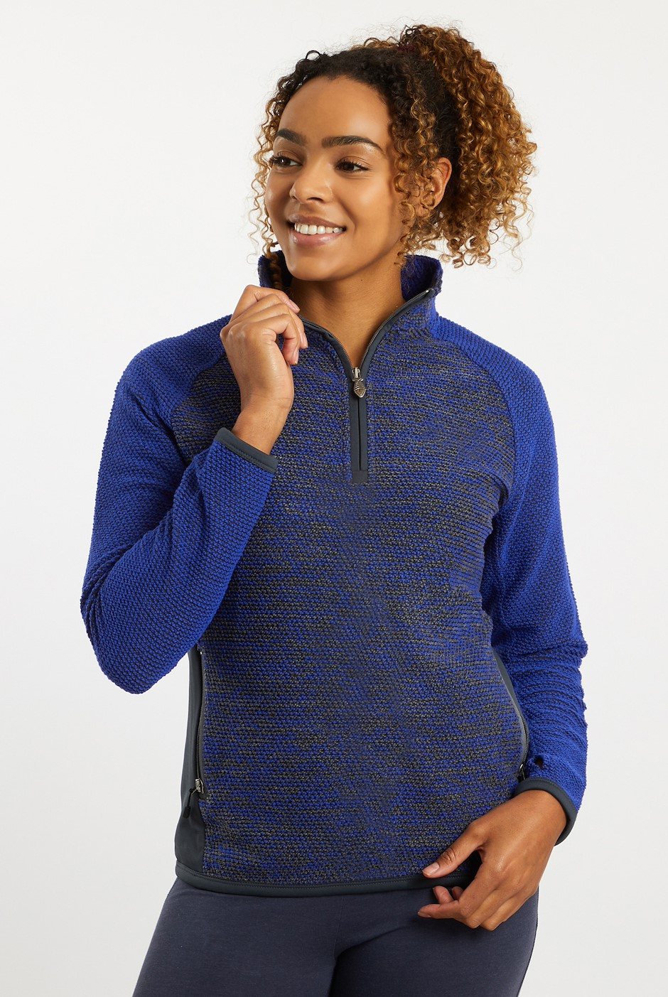 Maple 1/4 Zip Active Macaroni Vivid Blue