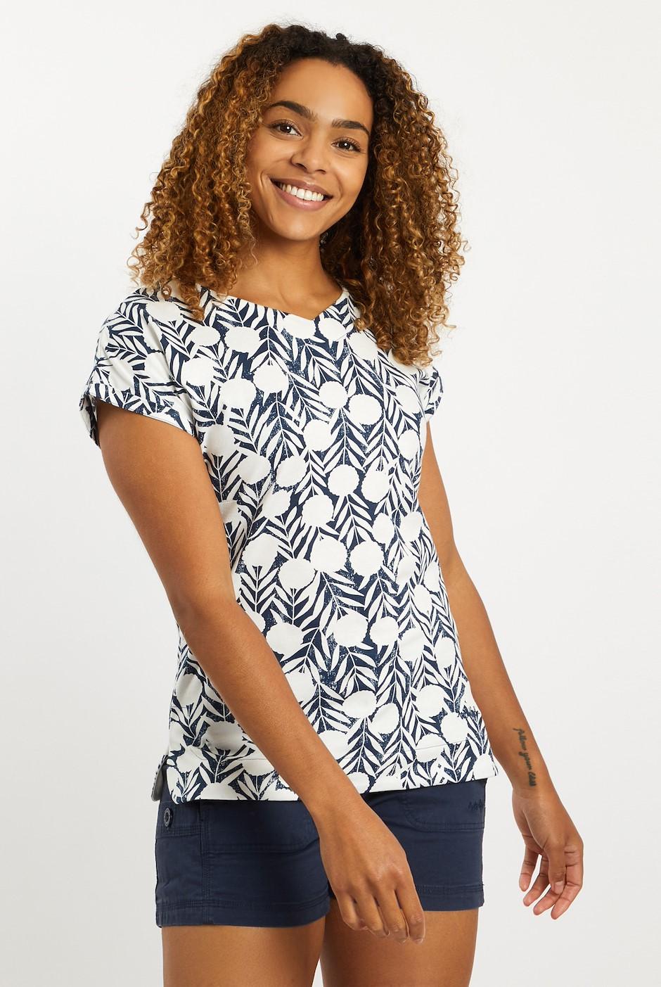 Sana Printed Jersey T-Shirt Dark Denim