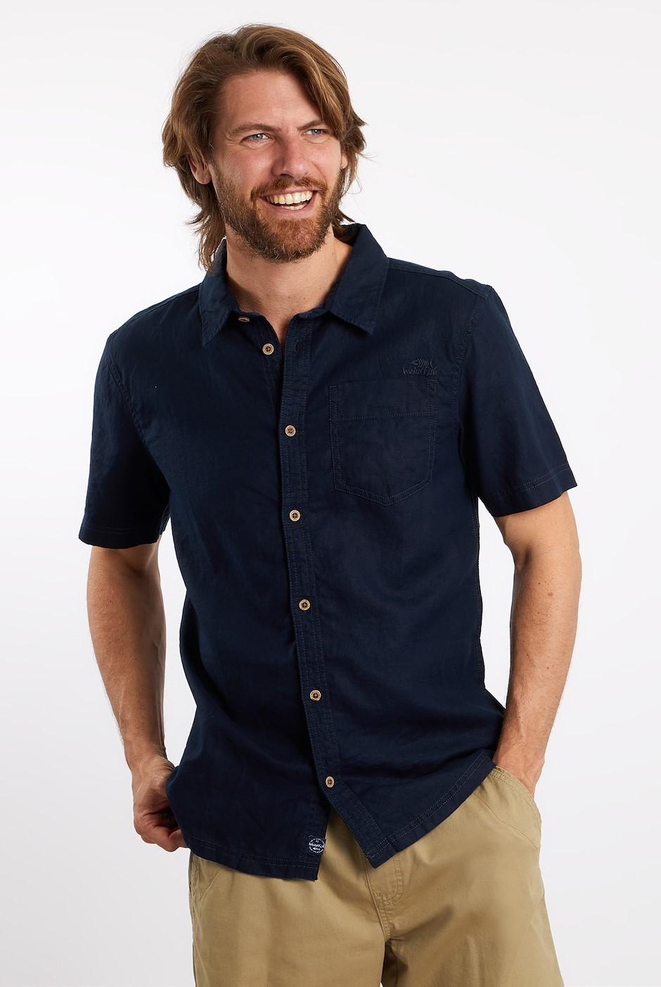 Woody Linen Blend Shirt Dark Navy