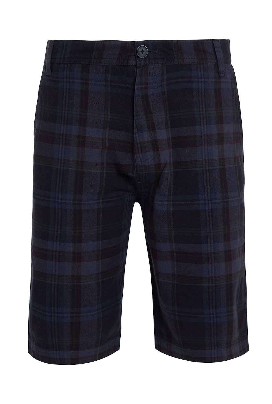 Cuburt Check Shorts Navy
