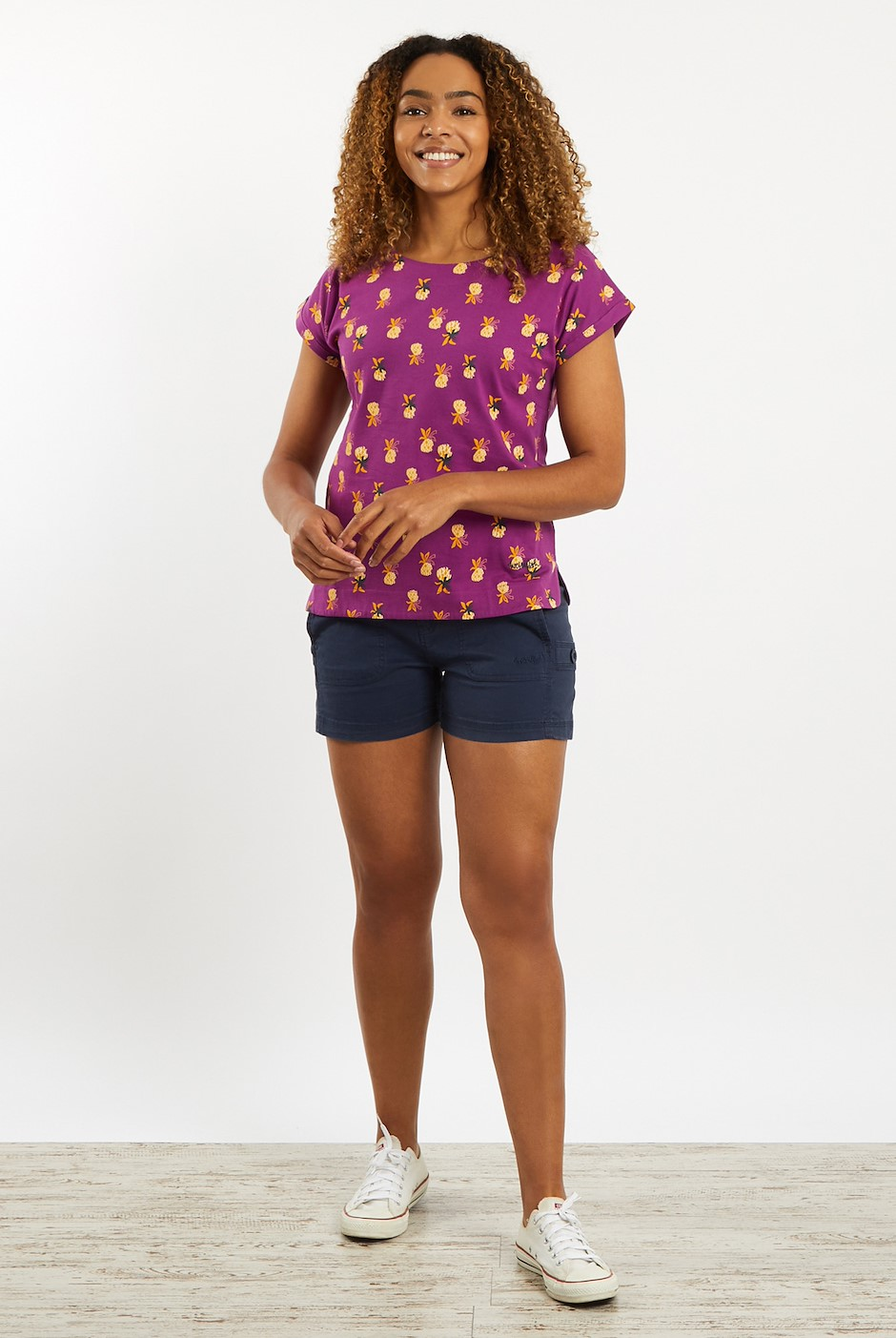 Paw Paw Patterned Jersey T-Shirt Purple Wine