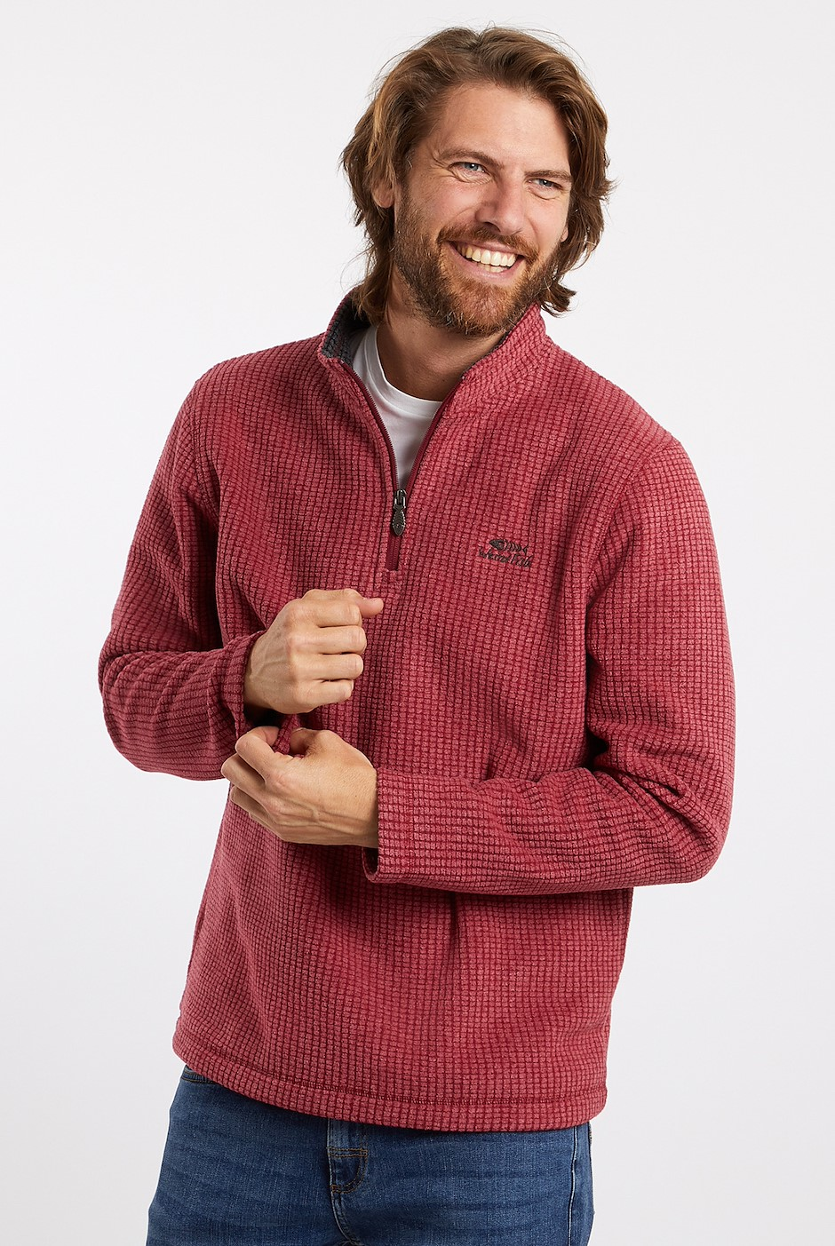Morle 1/4 Zip Microfleece Chilli Pepper