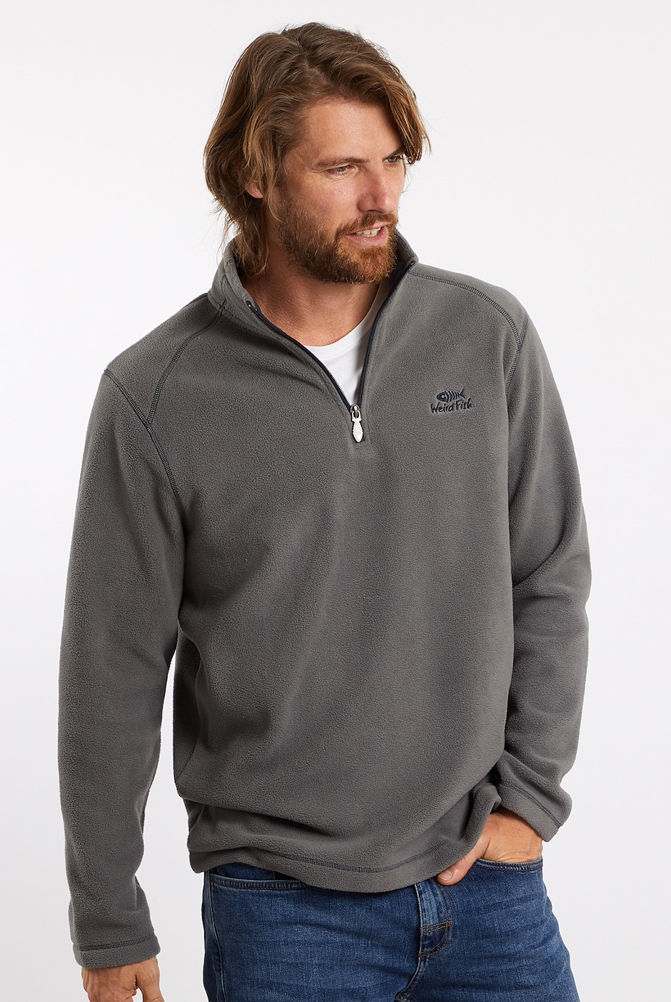 Hagan 1/4 Zip Microfleece Cement
