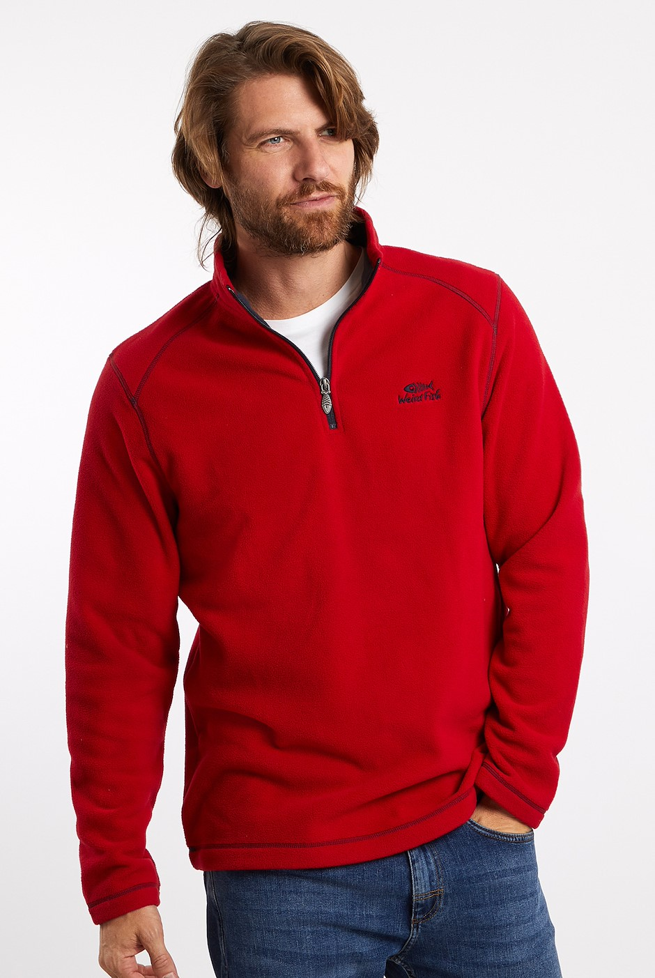Hagan 1/4 Zip Microfleece Chilli Pepper