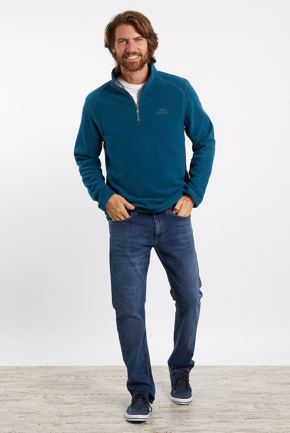 Hagan 1/4 Zip Microfleece Deep Sea Blue