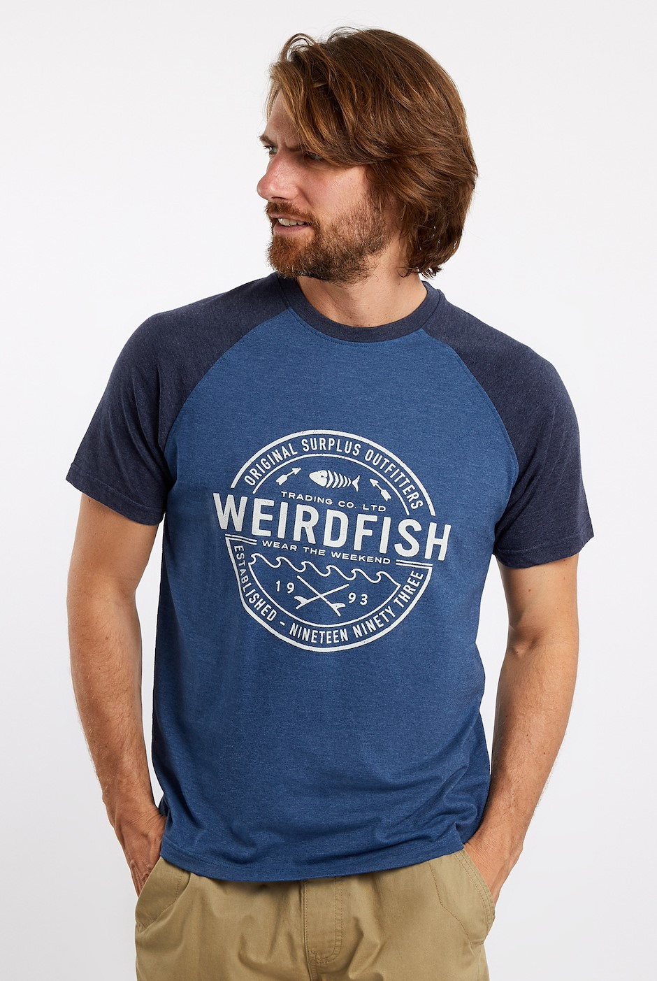 Trader Raglan Graphic T-Shirt Ensign Blue