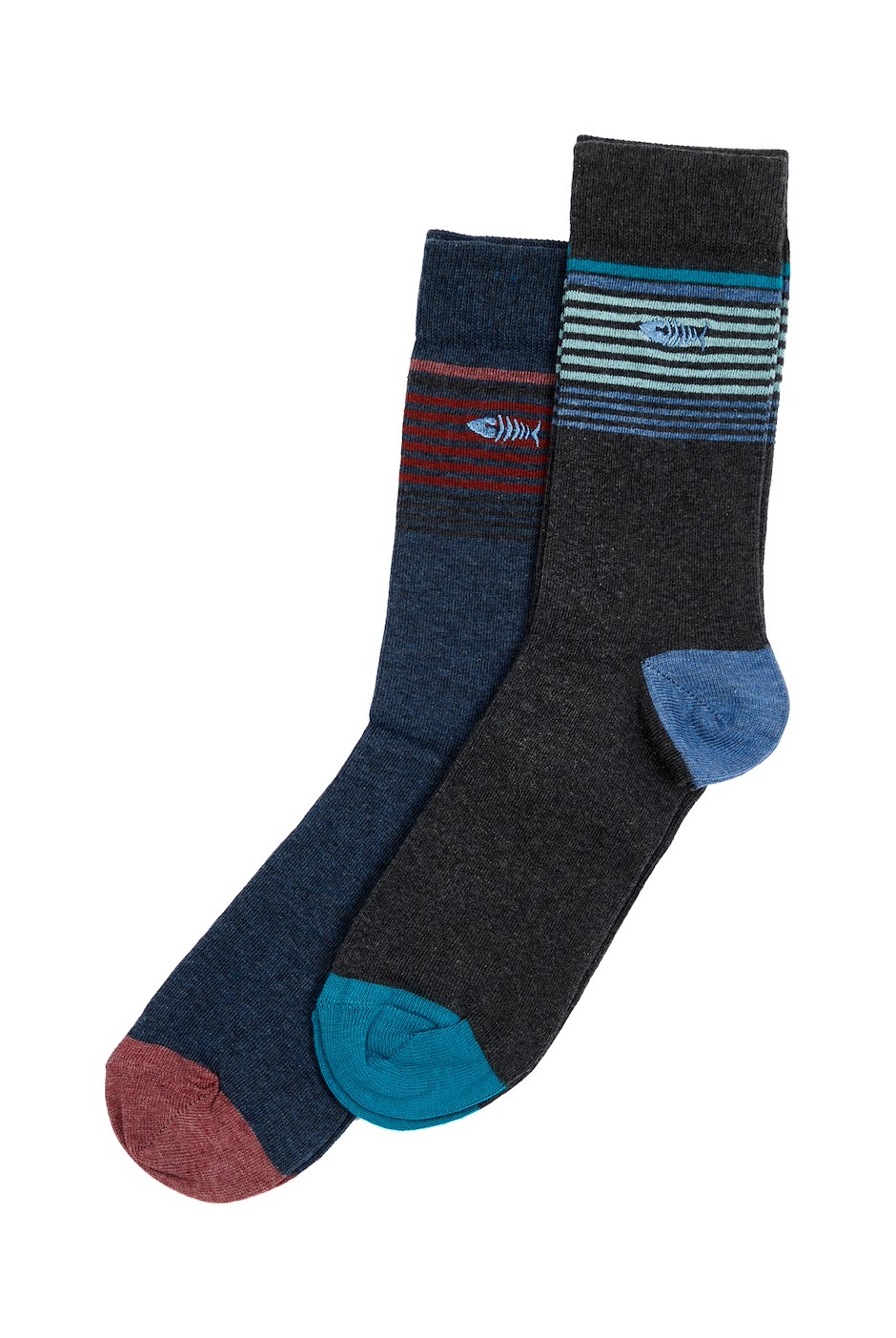 Newport Branded Socks Twin Pack Dark Navy