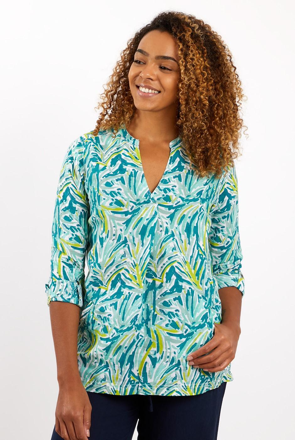 Bryher Longline Linen Shirt Spearmint