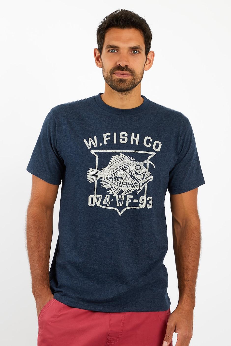 Skeleton T-Shirt Maritime Blue