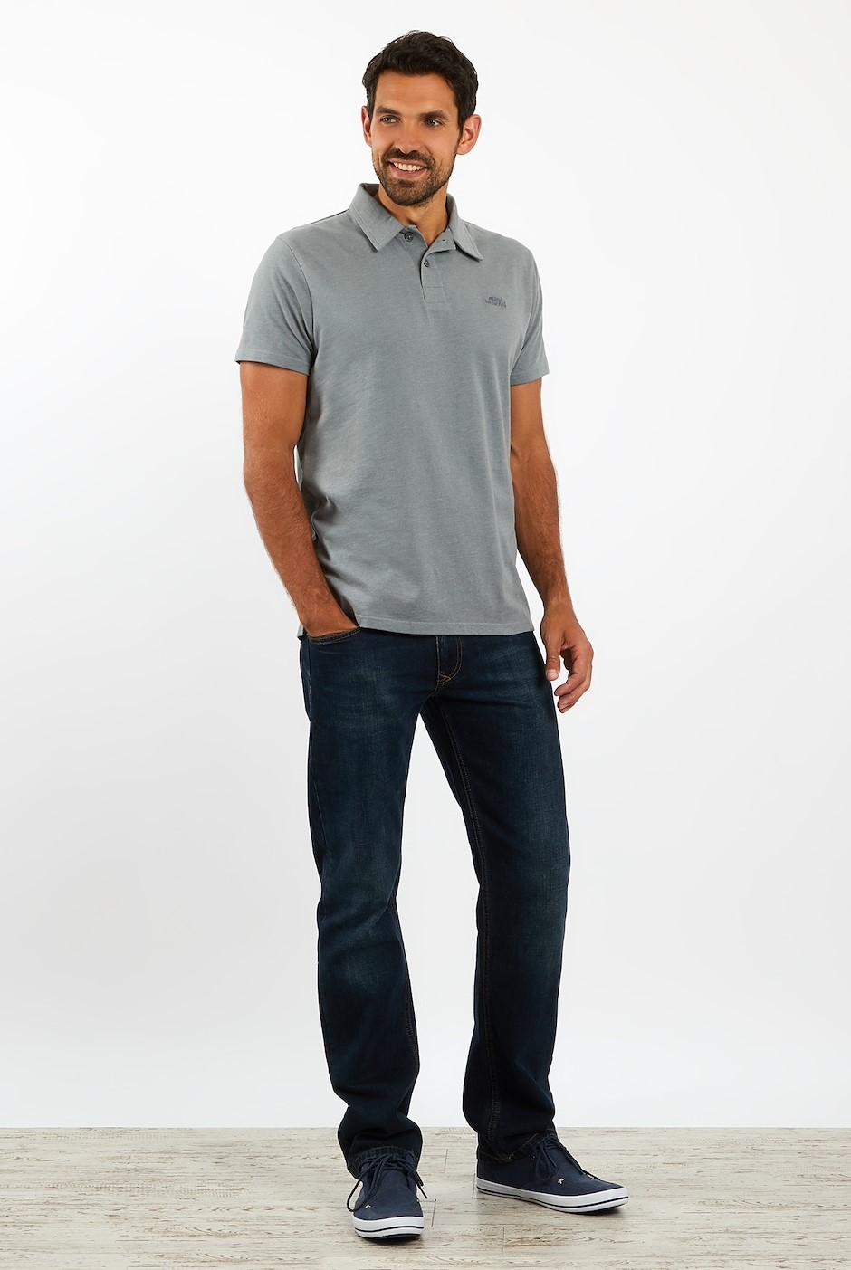 Quay Branded Polo Grey