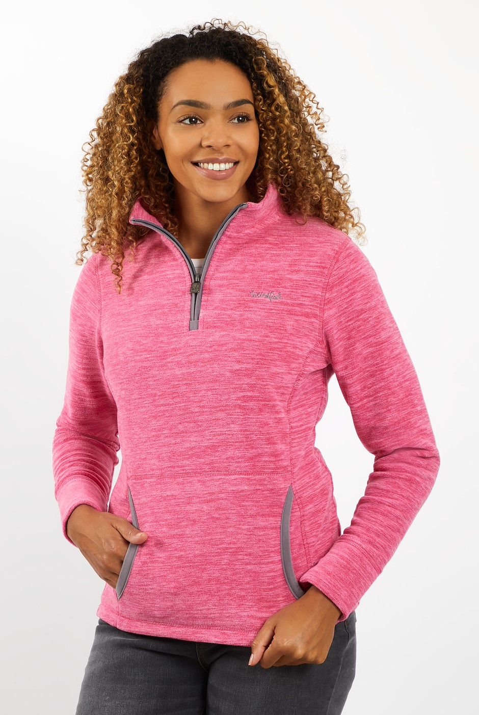 Nancy 1/4 Zip Fleece Dark Pink