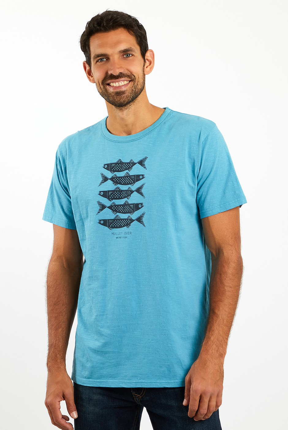 Mullet Over Organic Cotton T-Shirt Provincial Blue