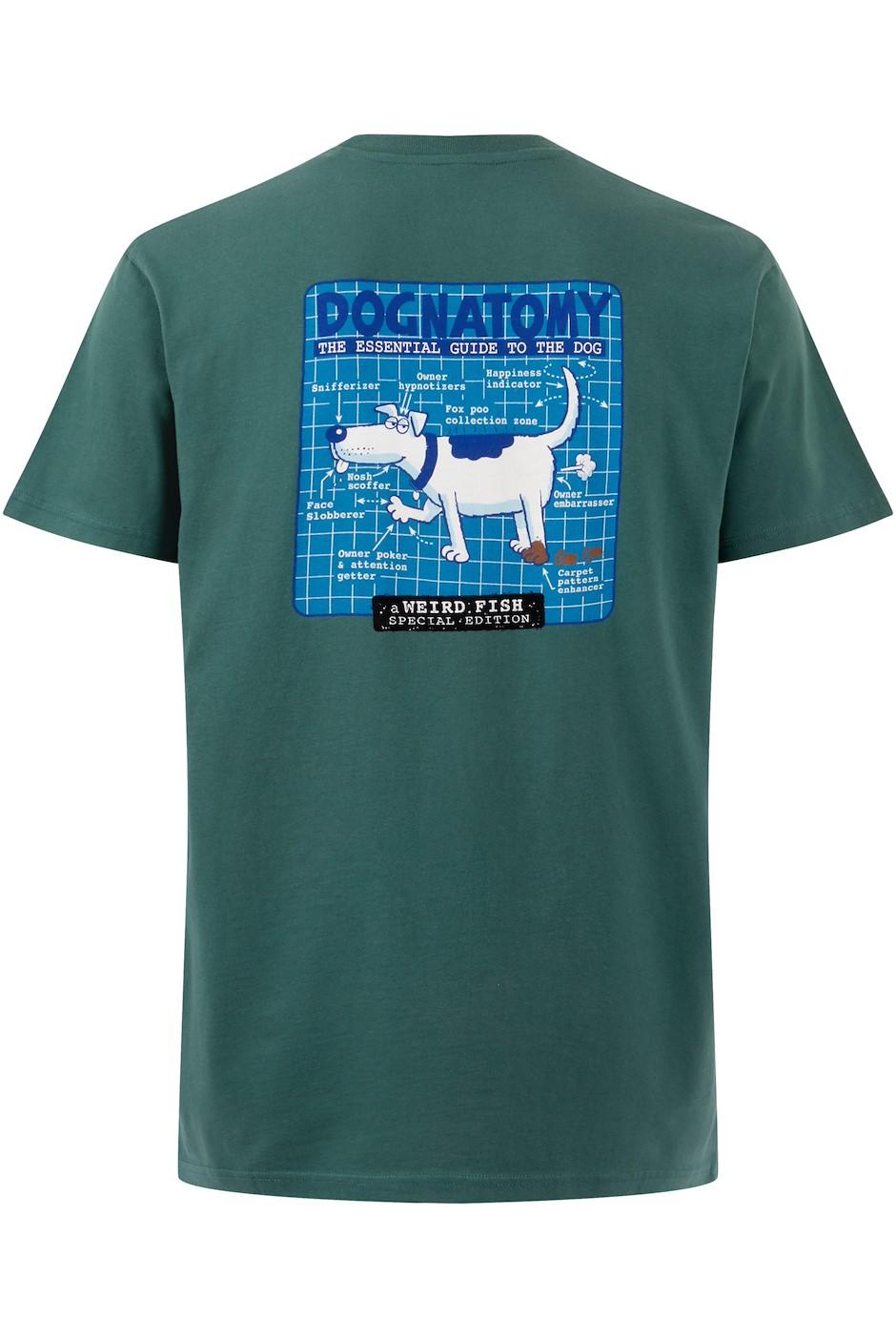 Dognatomy Battersea Artist T-Shirt Dark Green
