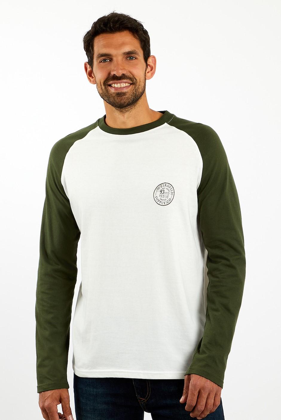 Hennock Long Sleeve Raglan T-Shirt Dark Olive