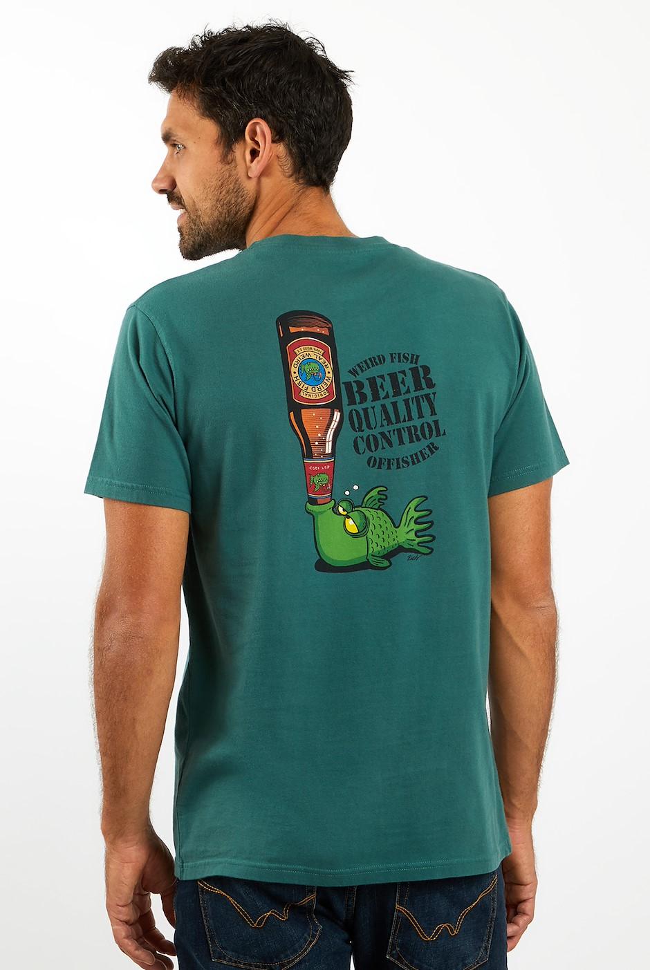 Beer Offisher Artist T-Shirt Dark Green
