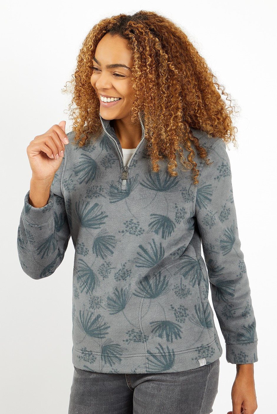 Emara Printed Fleece Frost Grey