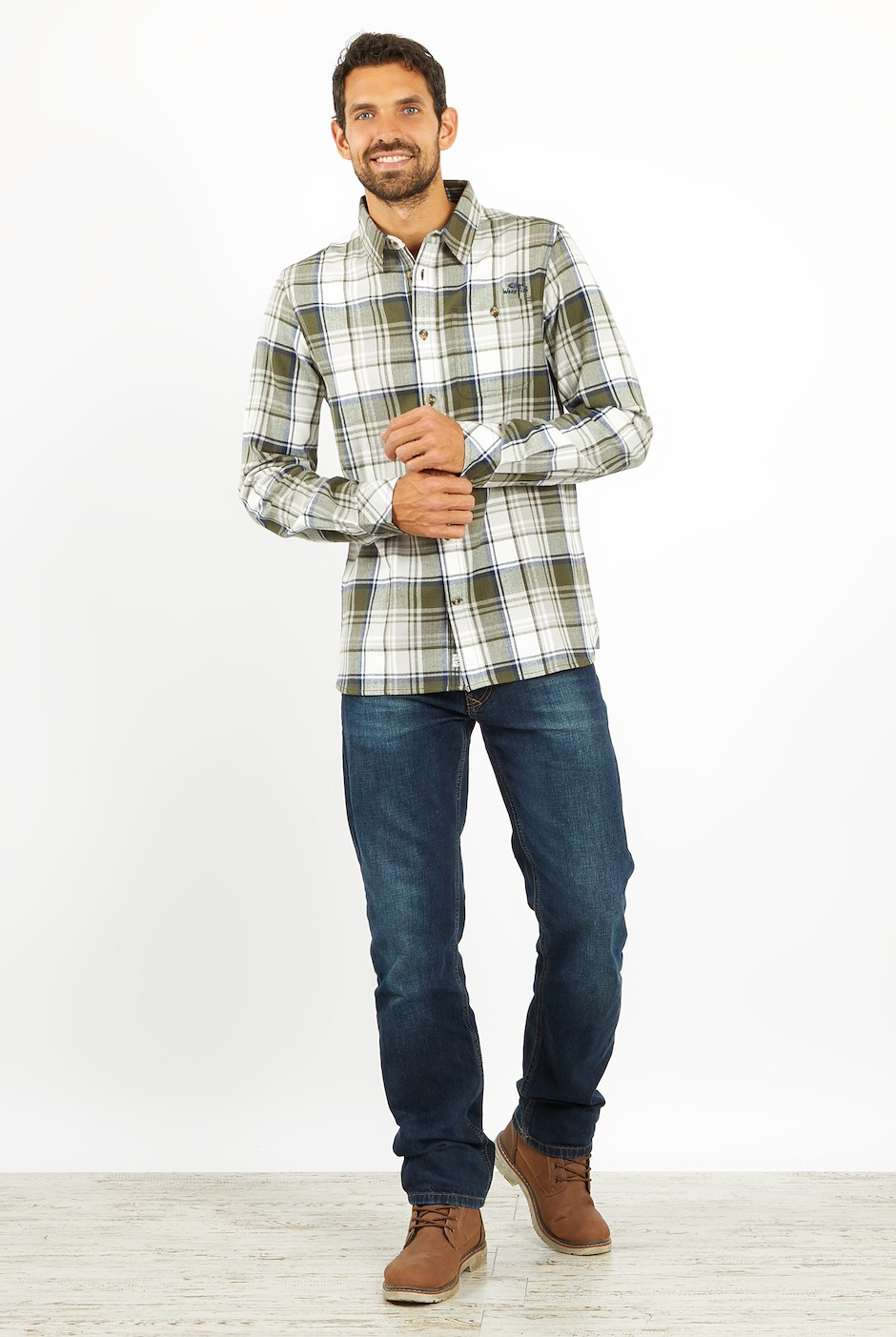 Sedona Check Shirt Navy