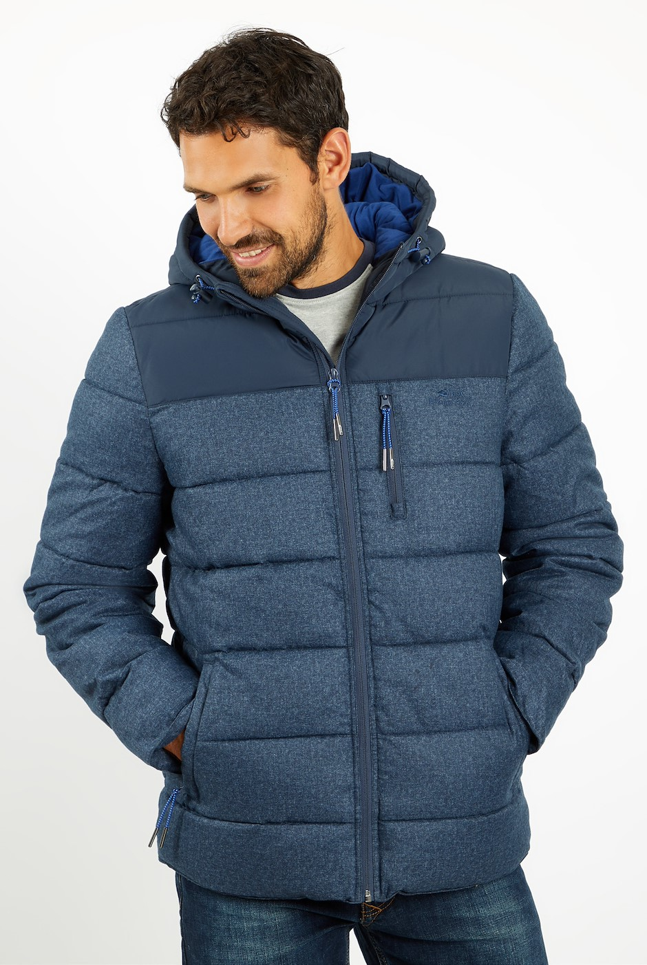 Laurent Puffa Jacket Ensign Blue