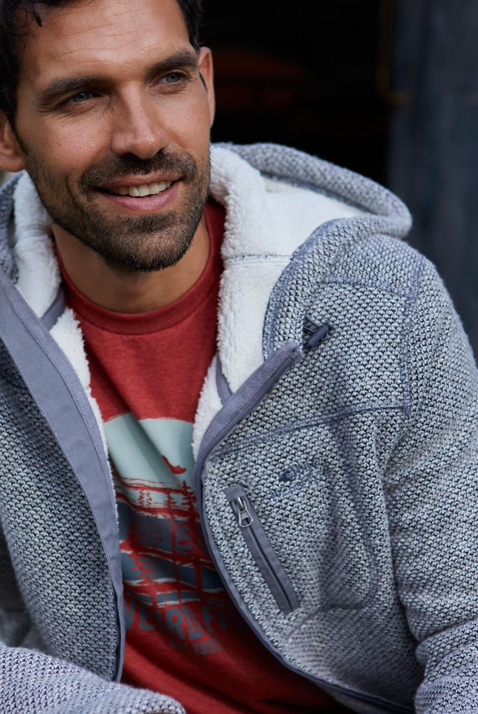 Leckie Full Zip Melange Fleece Grey