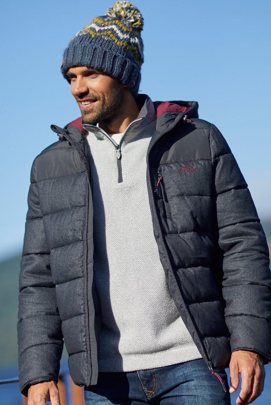 Laurent Puffa Jacket Charcoal