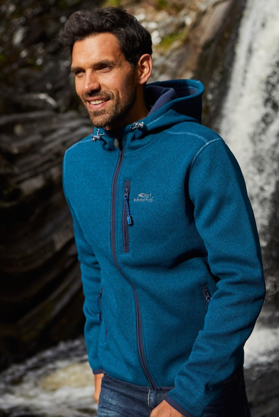 Lockie Full Zip Fleece Hoodie Storm Blue