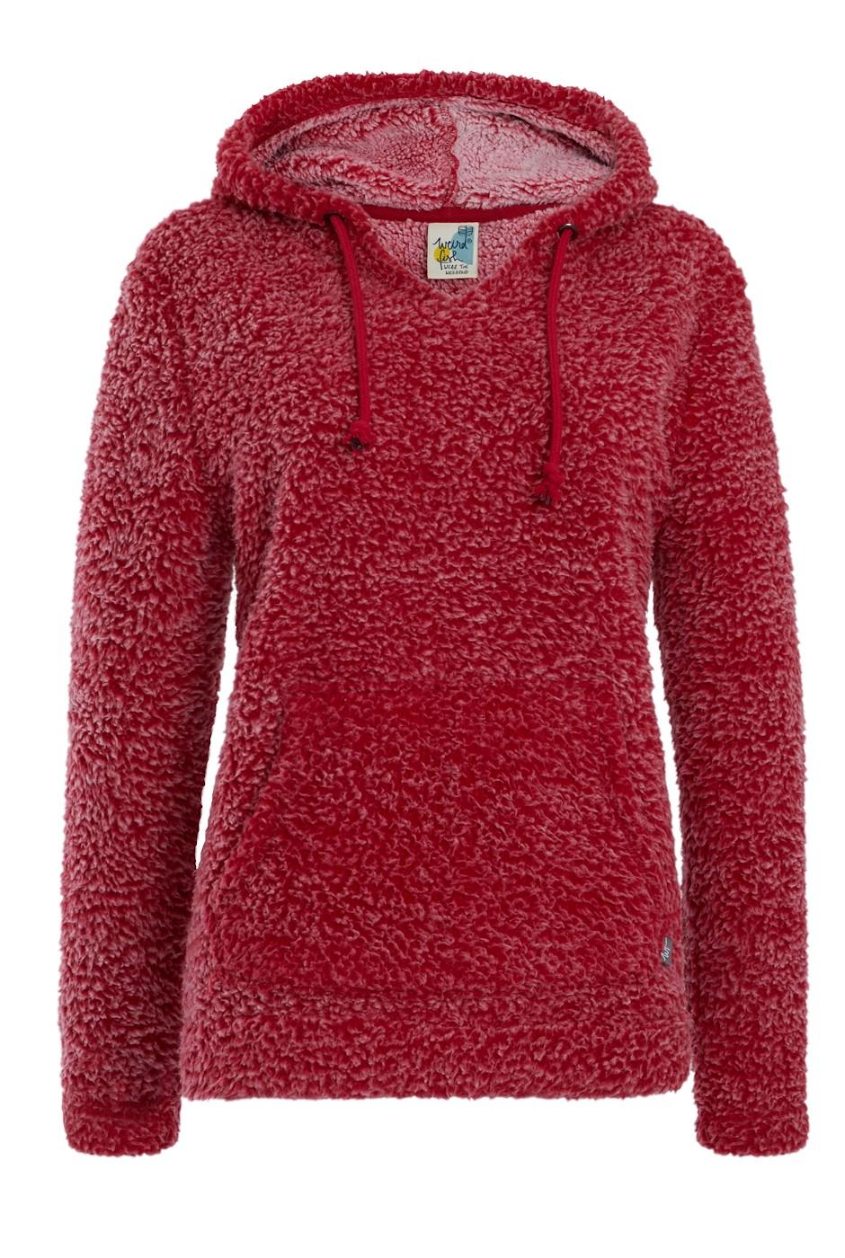 Jemma Cosy Fleece Hoodie Rich Red