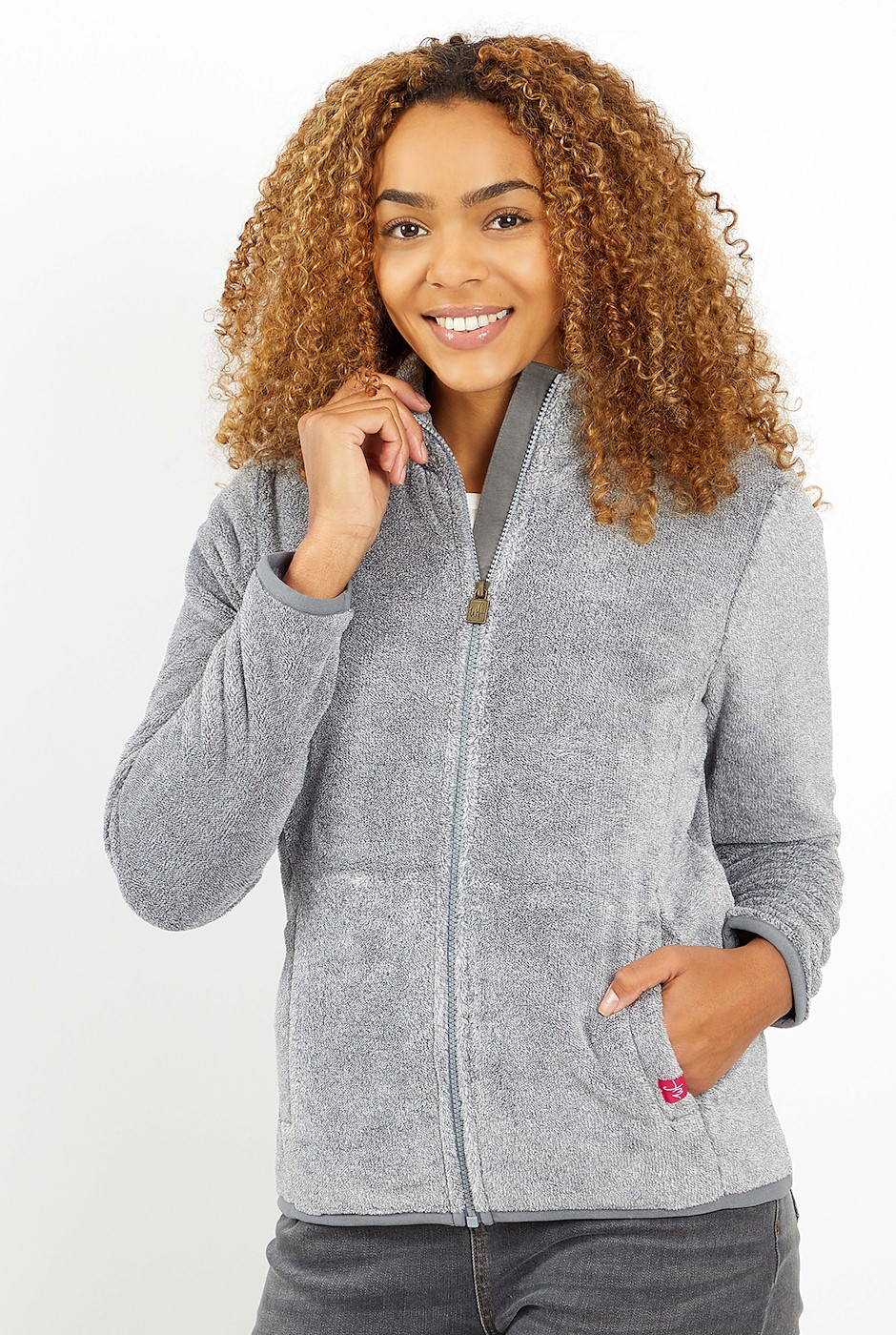 Hulla Full Zip Fluffy Fleece Cement