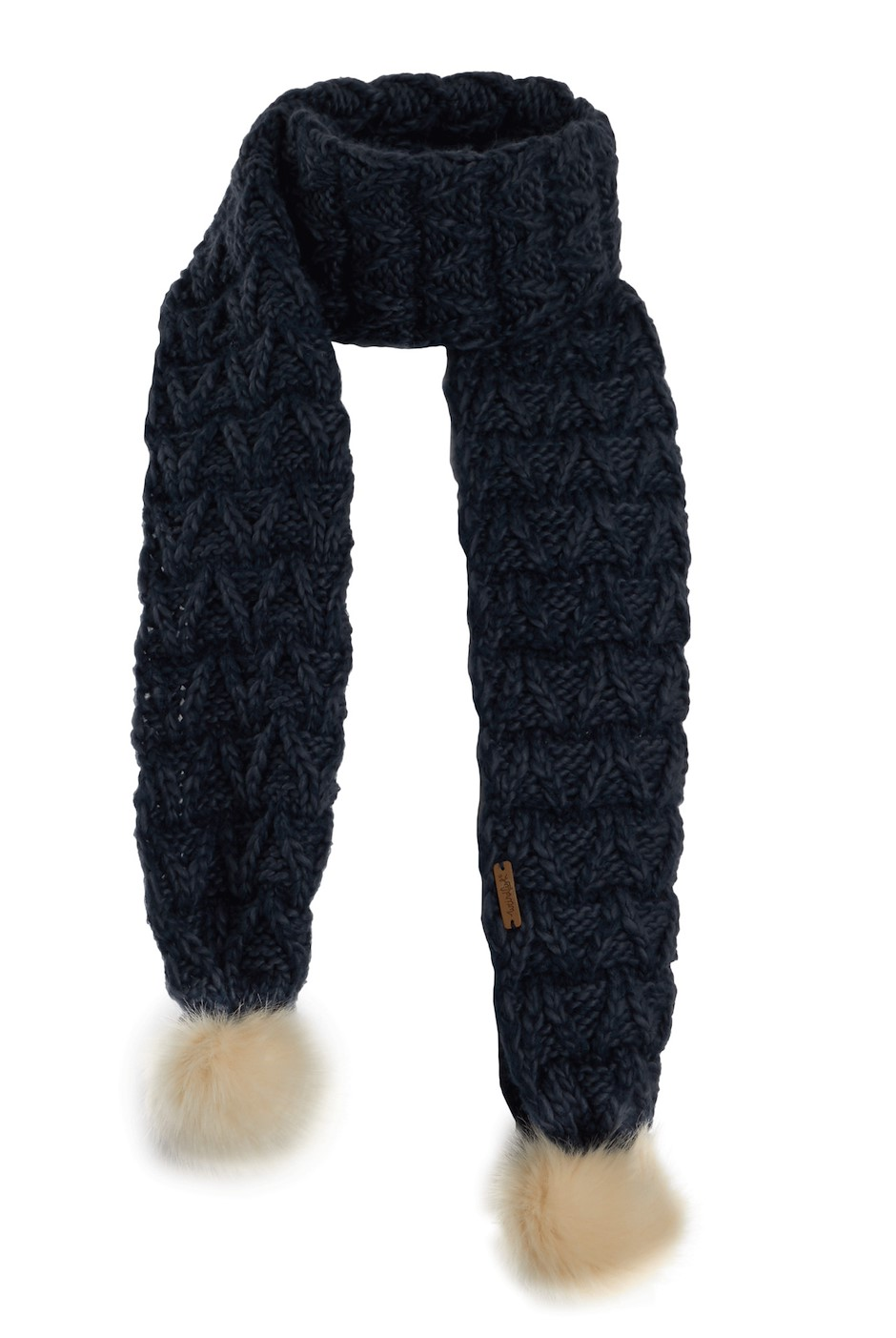 Corey Textured Knit Scarf Navy