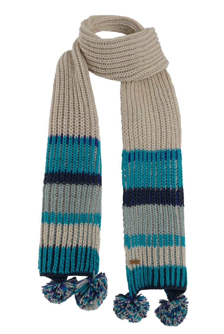 Deedee Striped Rib Knit Scarf Navy