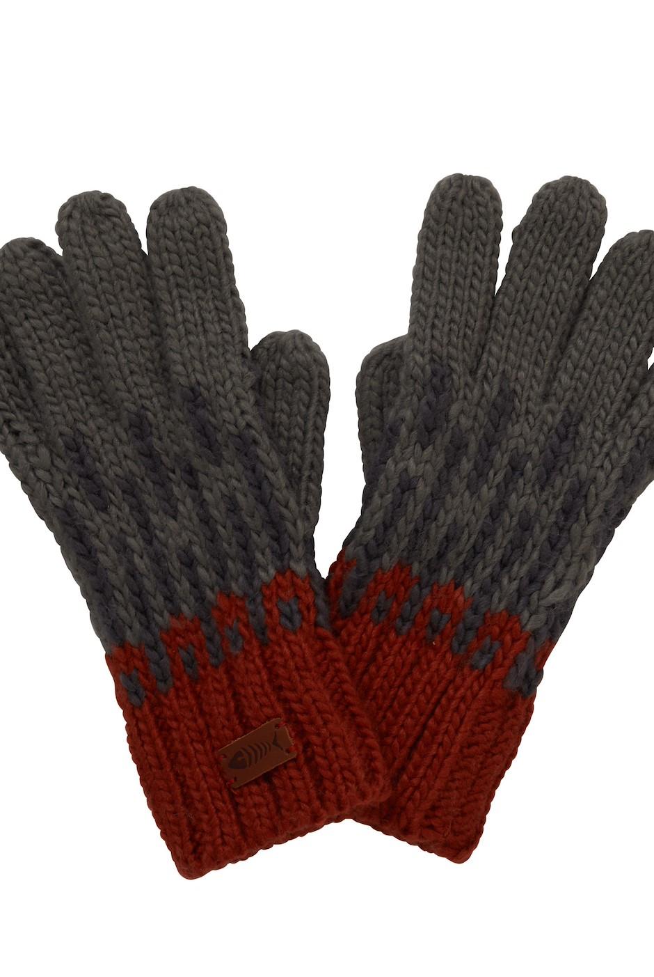 Kingston Fair Isle Knit Gloves Cement