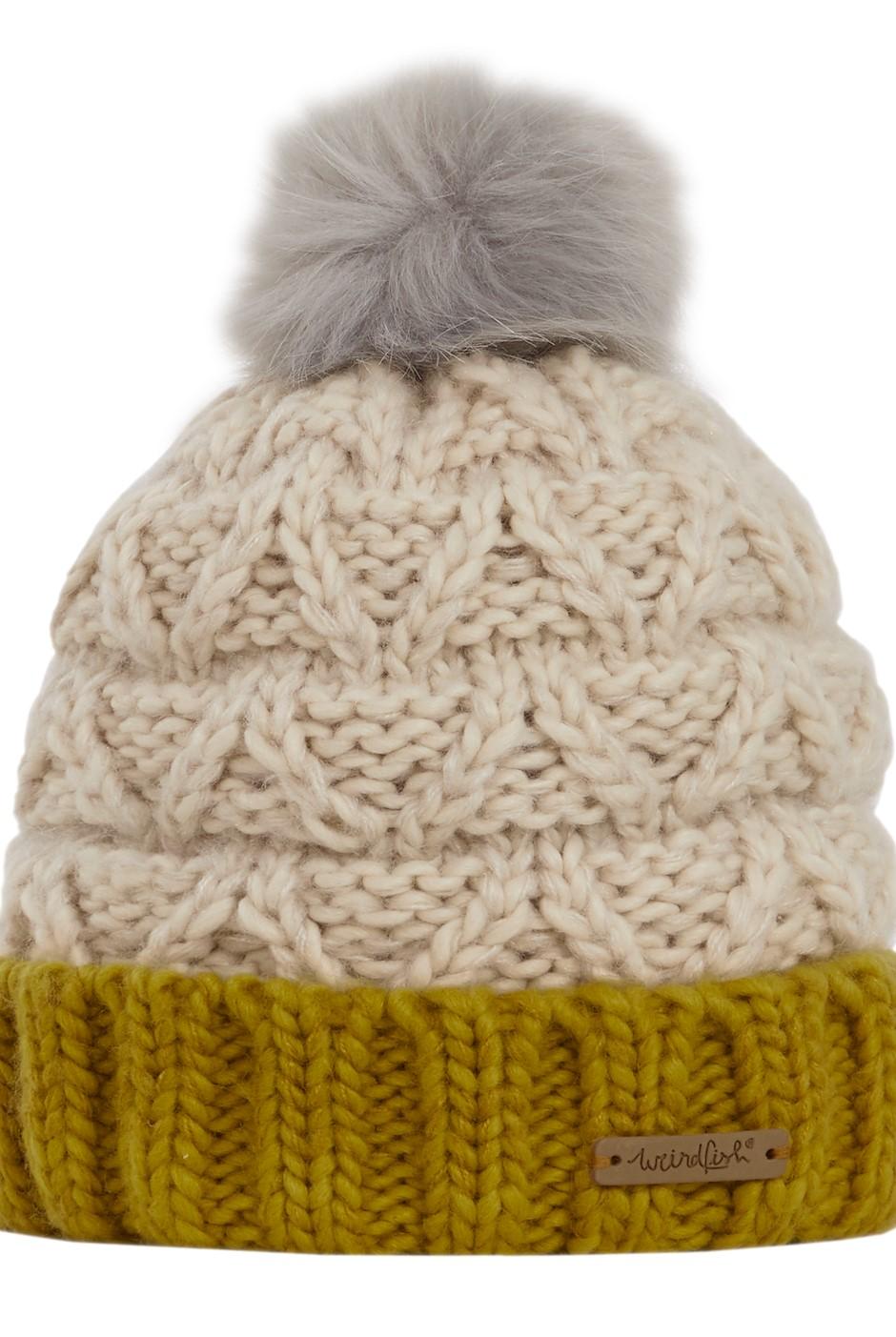 Livvy Knit Bobble Hat Chalk