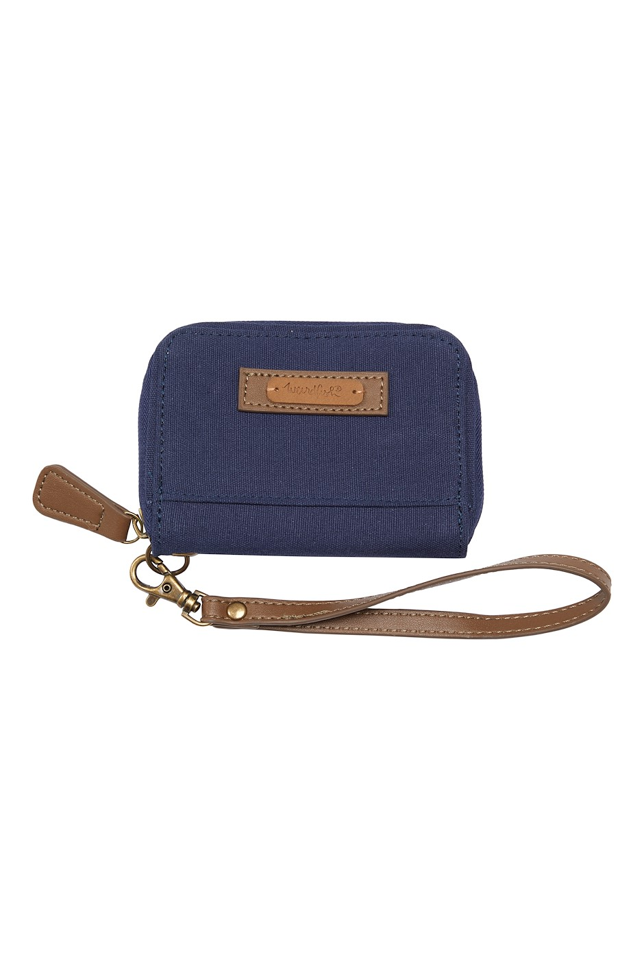 Corfe Washed Canvas Purse Navy