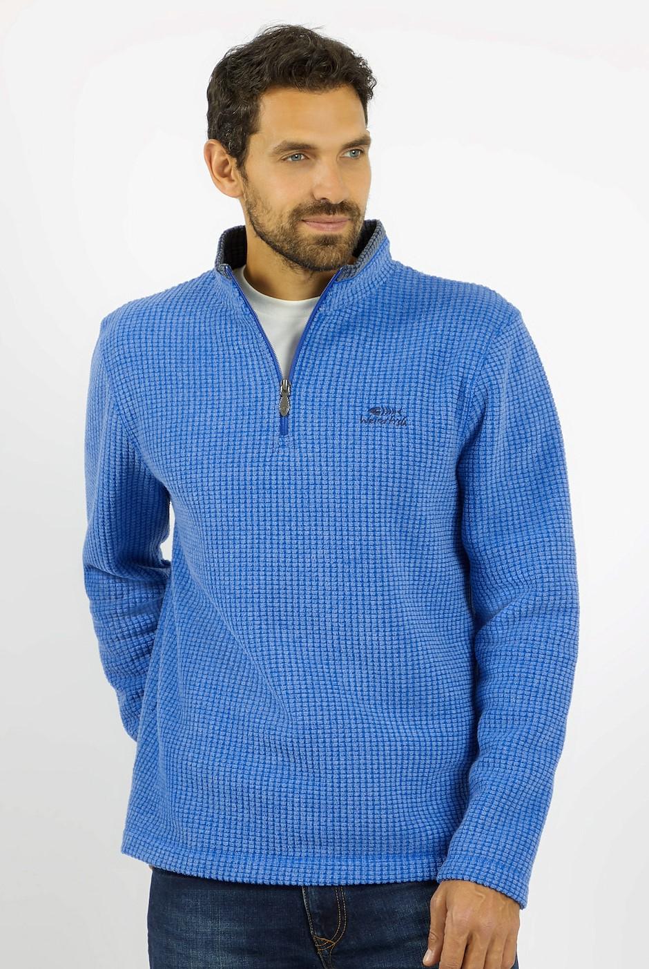 Newark 1/4 Zip Grid Fleece True Blue