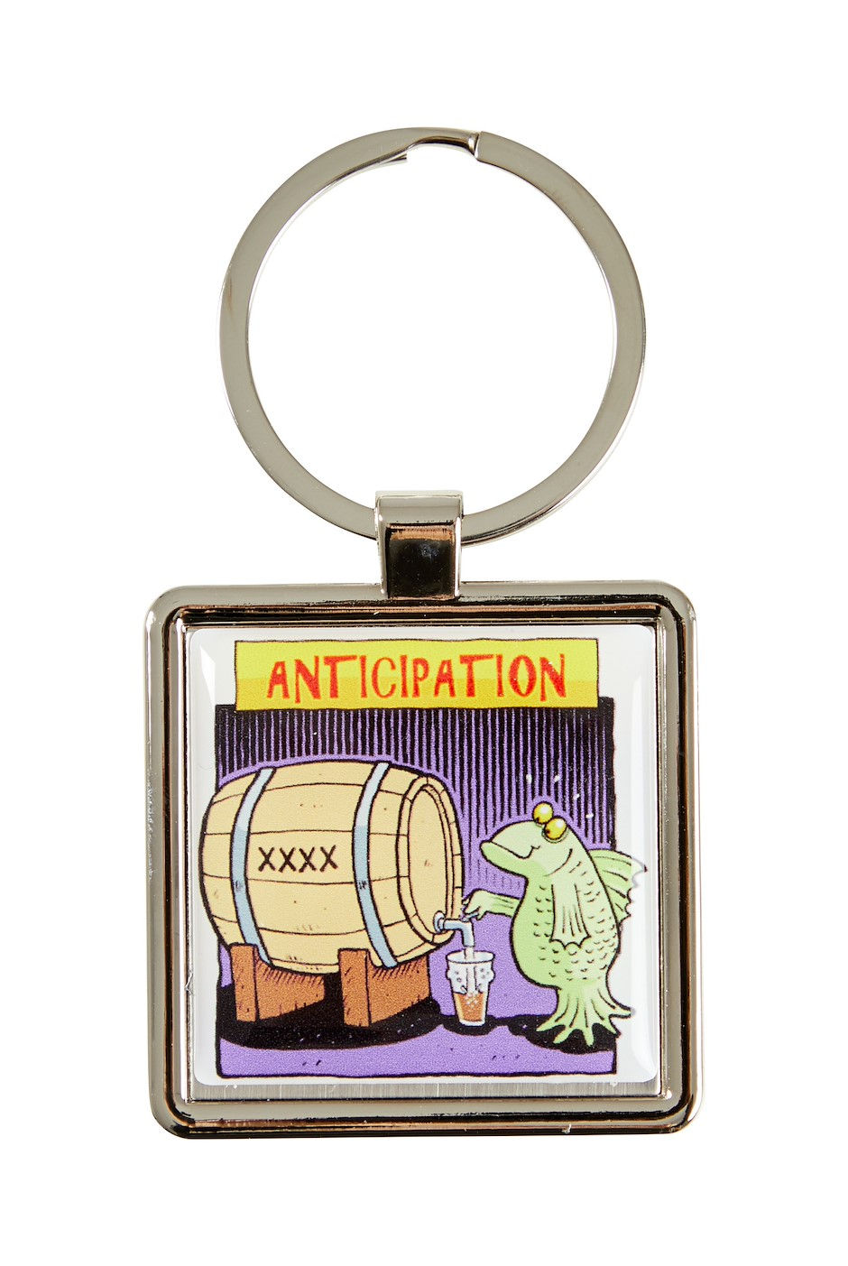 Brewing Stages Key Ring Plum