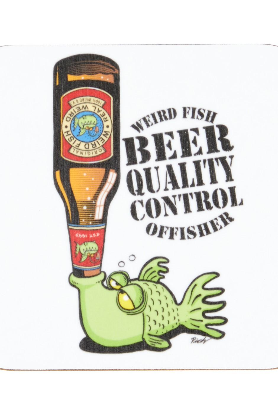 Craft Beer Offisher Coaster Dark Green