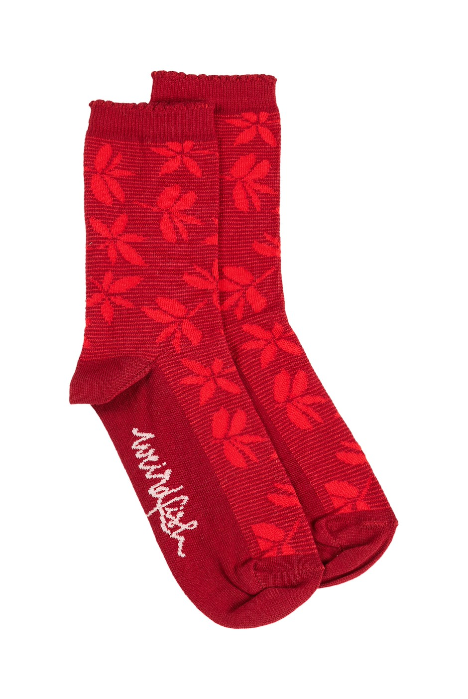 Ivy Bamboo Socks Rich Red