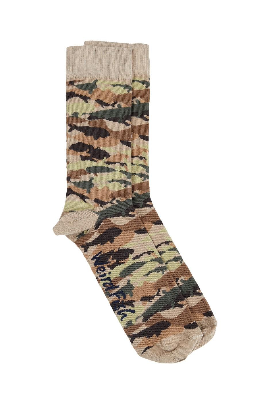 Doire Jacquard Socks Khaki Green