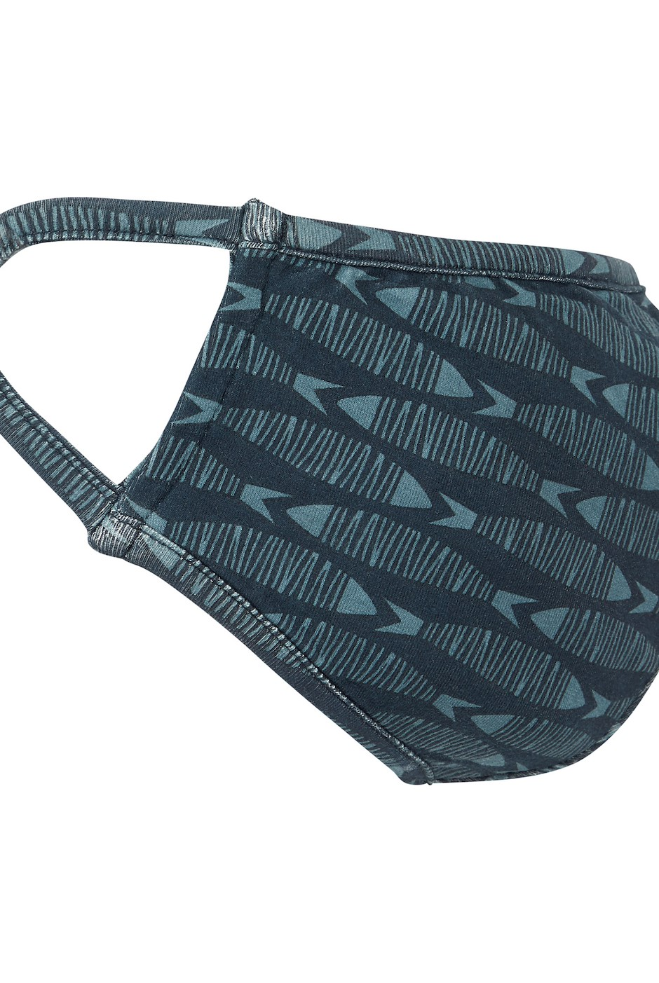 Cliff Printed Bamboo Face Covering Navy