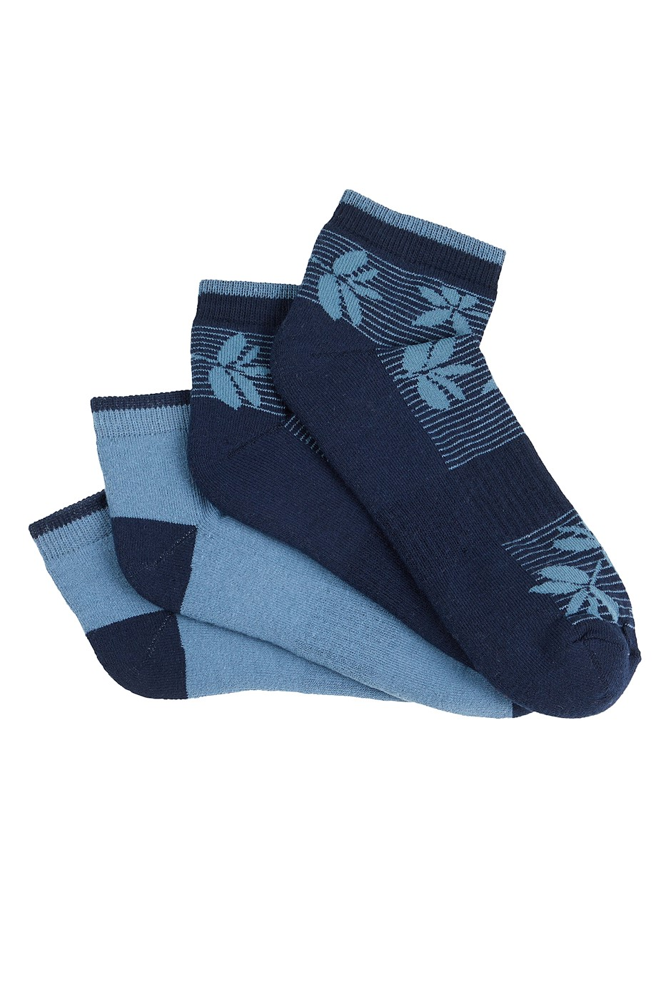 Athea Bamboo Trainer Socks 2 Pack Navy
