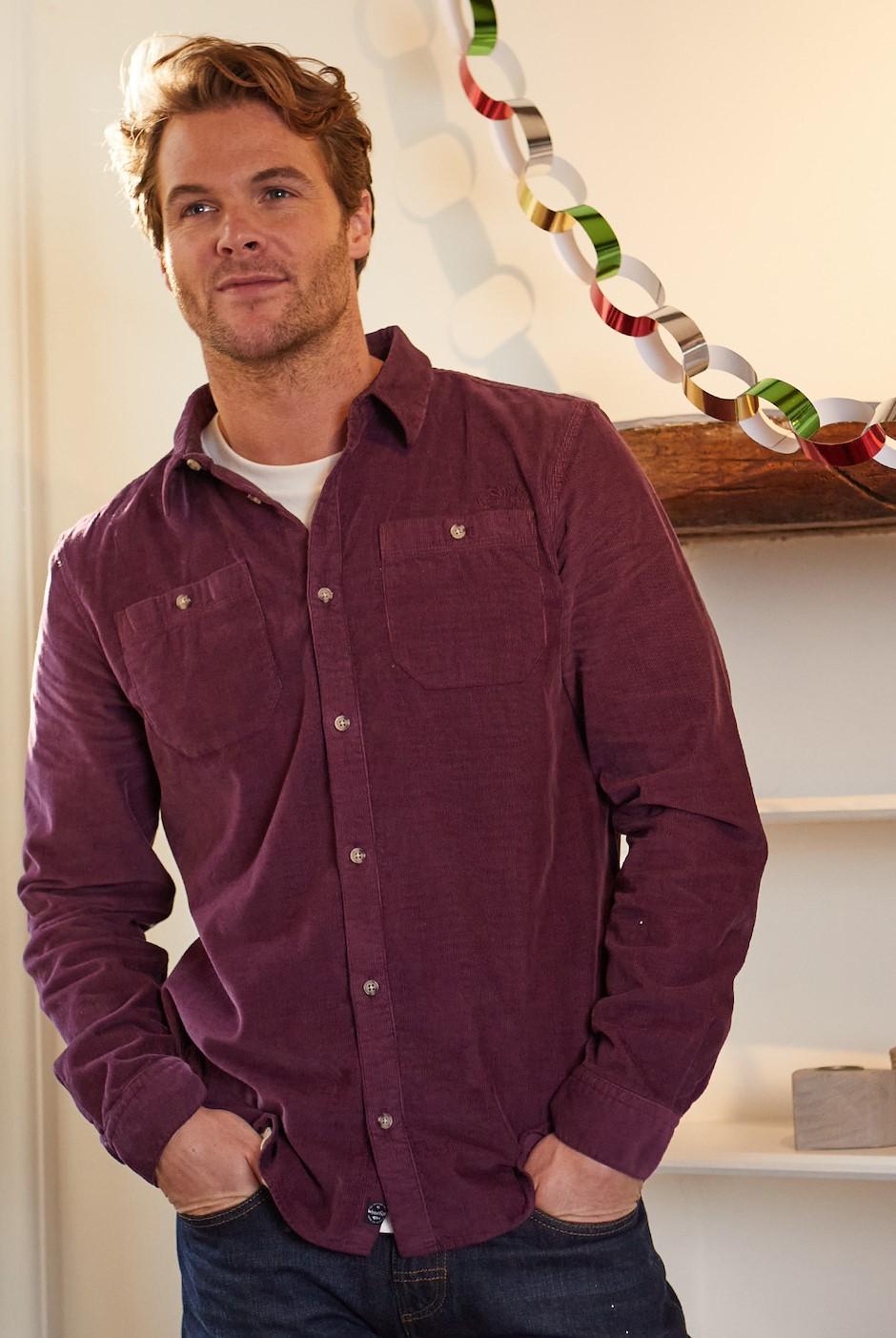 Eden Cord Shirt Plum