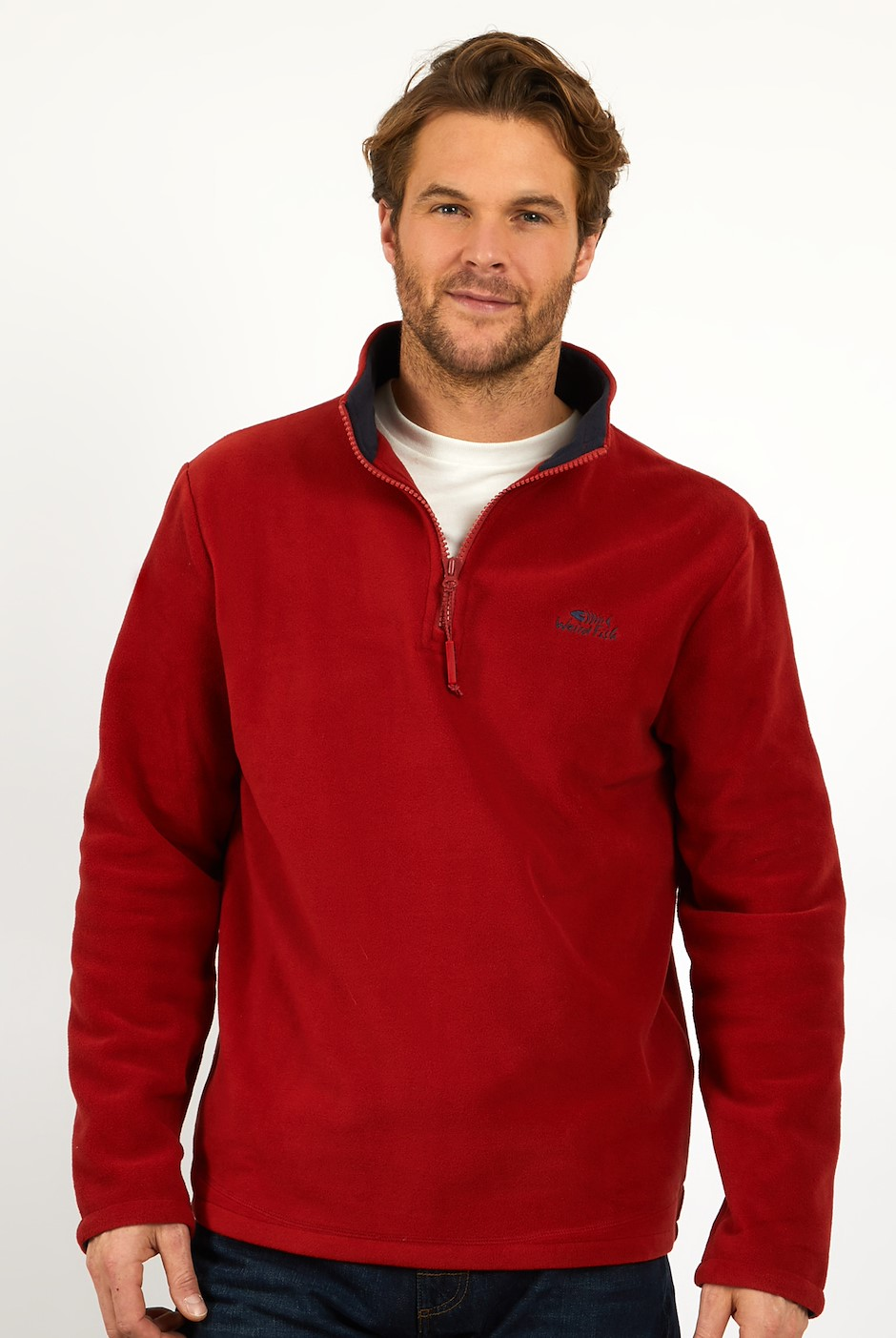 Gene 1/4 Zip Microfleece  Nut