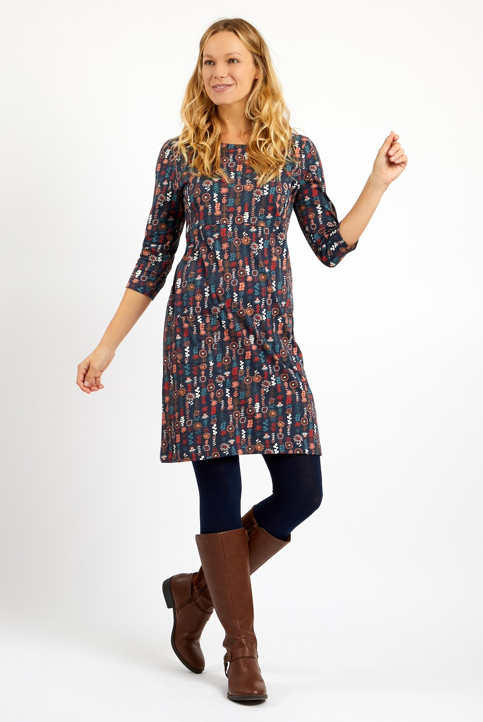 Starshine Printed  Jersey Dress Ink