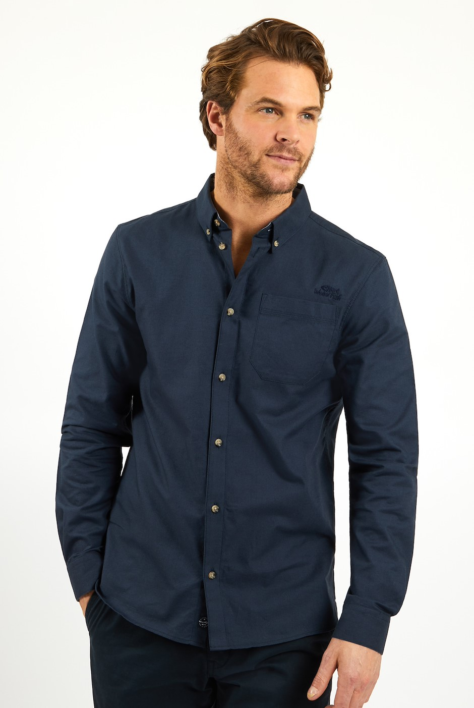 Hetton Button Down Shirt Navy
