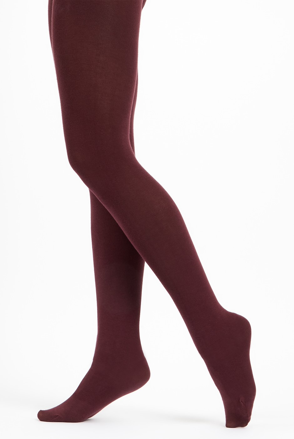 Una Block Colour Tights  Plum