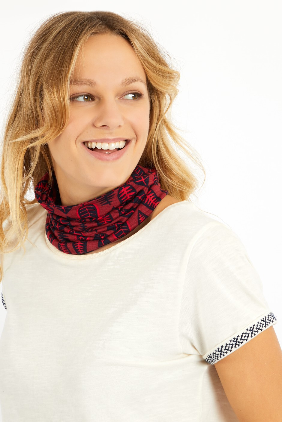 Pixie Printed Bamboo Multiway Band Rich Red