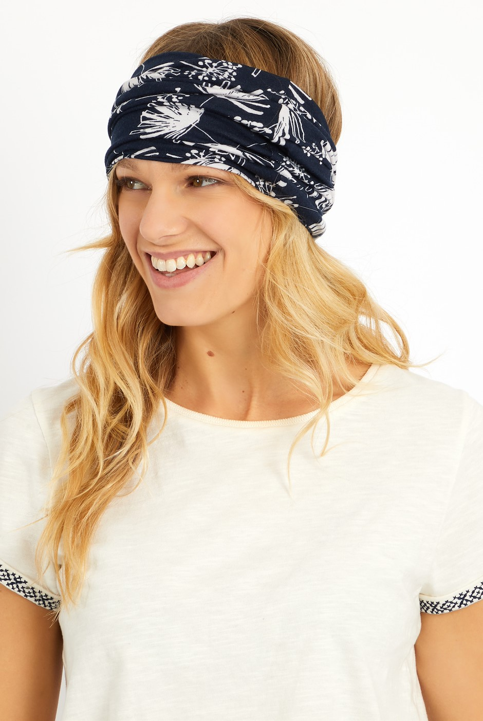Pixie Printed Bamboo Multiway Band Navy